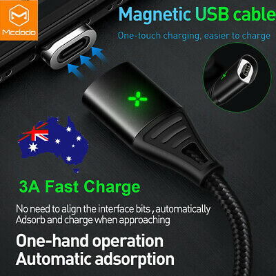 AU20.81 • Buy MCDODO Magnetic Braided Charging Cable Fast Charger Syn For IPhone 11 XS XR 8 7+