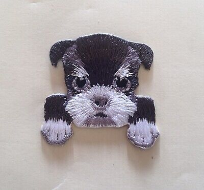 Yorkshire Terrier Puppy Head Iron / Sew On Embroidered Patch Appliqués Badge • 2.65£