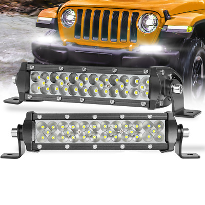 AU48.89 • Buy 8Inch LED Light Bar Work Driving Offroad 12V 24V Spot Flood Combo Triple Row 4WD