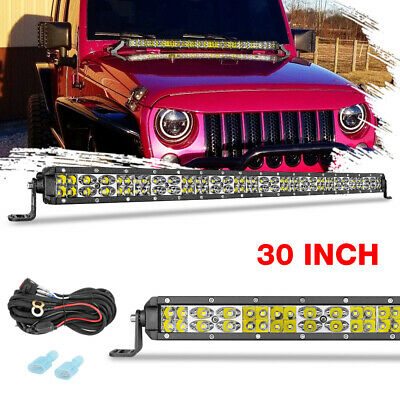 AU69.99 • Buy Super Slim LED Light Bar 30inch Spot Flood Work Driving Offroad + Wiring Harness