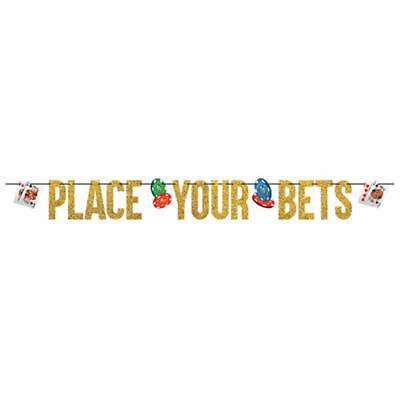 $10.50 • Buy RICE THE DICE BANNER Party Room Decorations PLACE YOUR BETS Poker Chips Casino