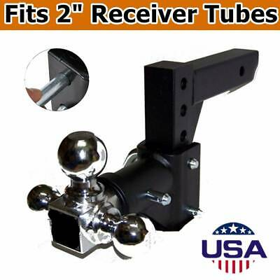 Three Ball Swivel Adjustable Trailer Tow Drop Hitch Ball Mount 2inch Receiver US • 26$