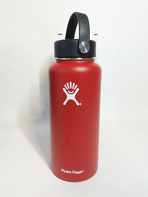 Hydro Flask Wide Mouth Stainless Steel Bottle With Flex Cap Red 32oz • 34.95$