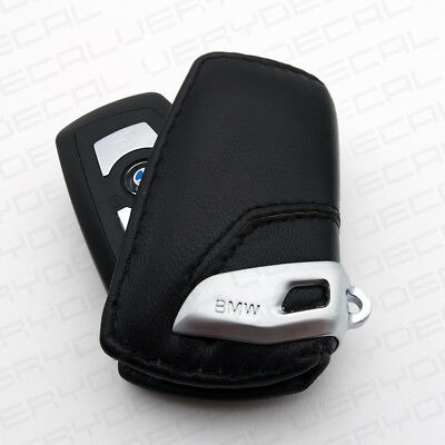 $14.99 • Buy For BMW Key Holder Fob Leather Case Cover Luxury Black 2 3 4 5 6 7 Series M4 M3