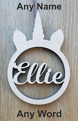 6 Mm Thick MDF Wooden Name Letters Unicorn, Heights 10 Cm To Large 60 Cm • 3.49£