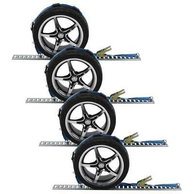 $160.50 • Buy 2  X 11' Car Carrier Ratchet Strap (3 E-Fittings, O-Ring, & 3 Cleats) - 4 Pack