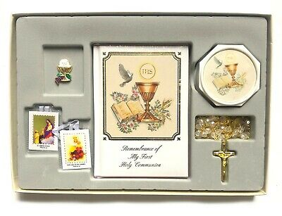 New First Holy Communion Box Gift Set For Boys Or Girls English Missal Rosary  • 20.02£