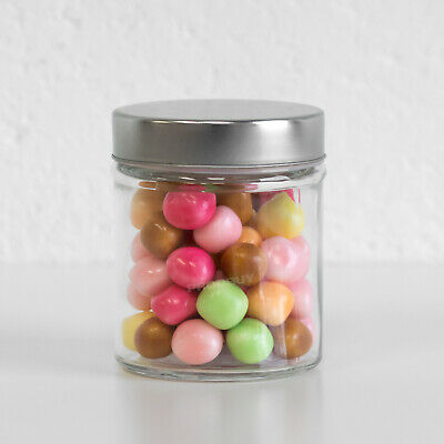 £6.99 • Buy 300ml Small Glass Storage Jar Canister Sweet Shop Candy Vintage Wedding Favour