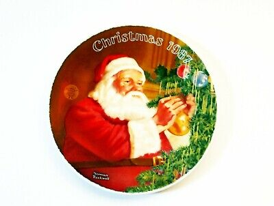 $ CDN25.20 • Buy Norman Rockwell 1987 Christmas Plate Santa's Golden Gift Limited Edition!