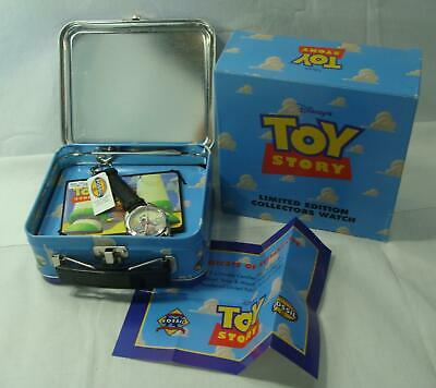 $44.95 • Buy 1996 Disney Toy Story Fossil Watch In Lunchbox Case Woody On RC Scud LTD ED