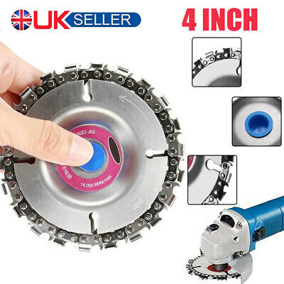 4'' Angle Grinder Disc 22 Tooth Chain Saw For Wood Carving Culpting Plastic Tool • 5.99£
