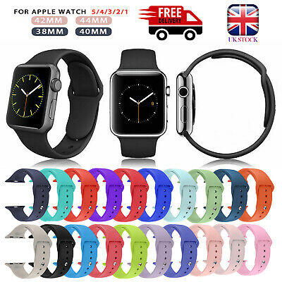 Silicone Sport Strap IWatch Band For Apple Watch Series 5/4/3/2/1 38/42mm UK • 3.69£