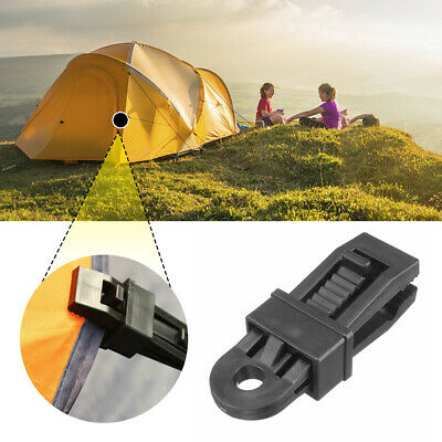 Tent Clips Heavy Duty Eyelet Non-piercing Tie Down Cover Camping Tarpaulin UK • 2.99£