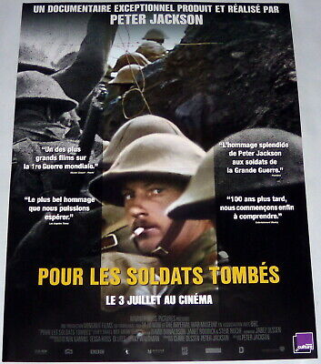 $16 • Buy THEY SHALL NOT GROW OLD Peter Jackson WW1 Documentary WW1 SMALL French Poster