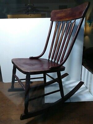 $32 • Buy Vintage/Antique Wooden Sewing Rocking Chair With Spindle Back~ Bent Wood