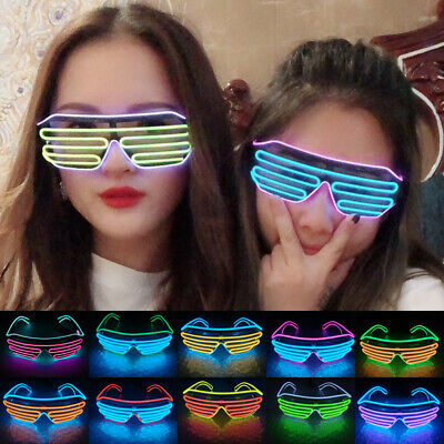LED Festival Light Up Glow Glasses Sunglasses Rave Club Party Supplies • 4.99£