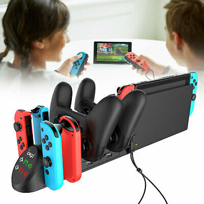 $19.97 • Buy 6 In 1 Charger Pro Controller Charging Dock Station For Nintendo Switch Joy-Con