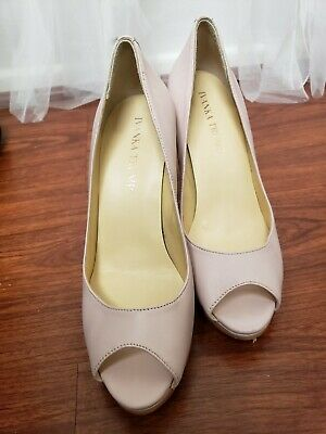 $ CDN36.26 • Buy Gently Used Ivanka Trump Open Toe Shoes Pink Pump Size 7 Leather