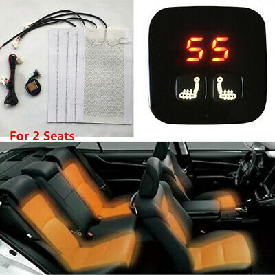 $ CDN83.02 • Buy 12V 2 Seats Universal Car Carbon Fiber Heated Seat Heater Kit 5-Level Switch