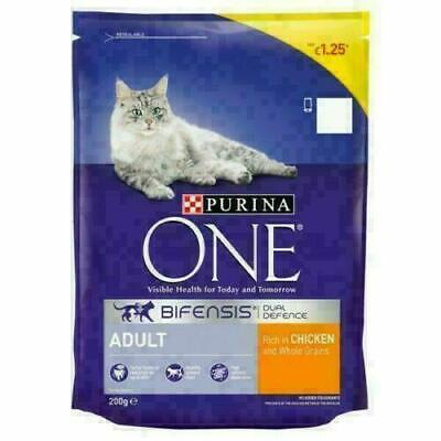 £10.99 • Buy Cat Food Purina ONE Cat Adult Chicken Whole Grains Dry 6 X 200g (Price Marked)