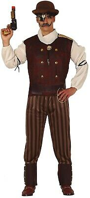 Mens Victorian Steampunk Inventor Carnival Historical Fancy Dress Costume Outfit • 26.99£