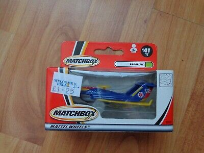 Vintage Matchbox #41 Radar Jet Search Plane Diecast Model Boxed • 3.99£