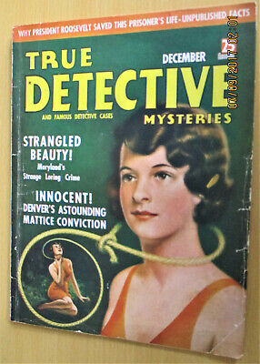 True Detective Mysteries & Cases, Dec. 1937.crime & Murder Cases. Gd / Very Good • 4.99£