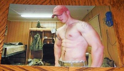 $ CDN3.64 • Buy Shirtless Beefcake Male Hunk Hairy Chest Military Dude PHOTO 4X6 P1212