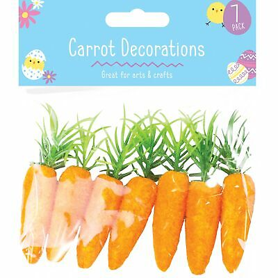 7pc Easter False Carrot Party Decoration Egg Hunt Craft Party Loot Basket Child • 1.89£