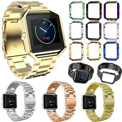 AU10.67 • Buy For Fitbit Blaze Band Stainless Steel Straps Replacement Wristband Brace