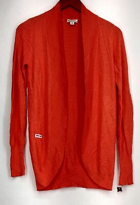 $8.99 • Buy Merona Size XS Long Sleeve Open Front Cardigan Sweater Orange Womens