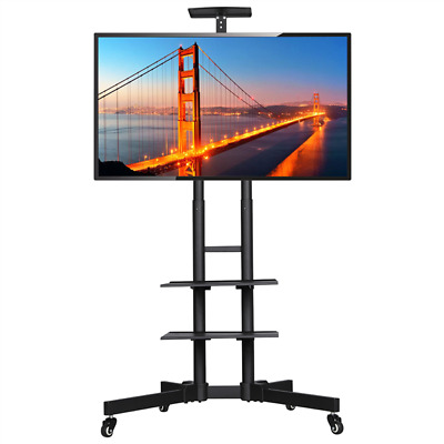 £65.99 • Buy Mobile TV Stand TV Cart Unit With Bracket Mount Tray Trolley Wheels 32-65in