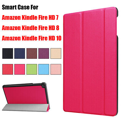 Case Protective Cover Tablet Funda For Amazon Kindle Fire HD 7 8 10 2017 2018 • 5.55£