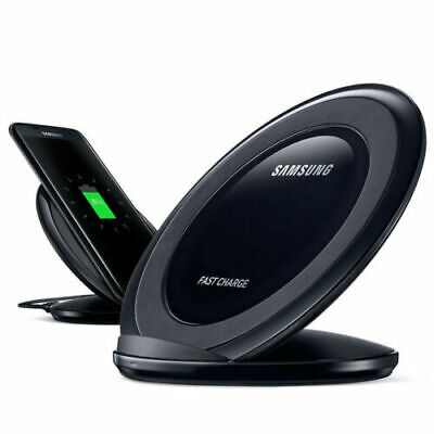 AU17.98 • Buy Qi Wireless Fast Charger Charging Pad Stand Dock For Samsung S9 S8 S7 S6 Edge