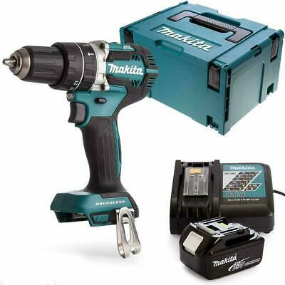 Makita DHP484 18v Combi Drill Body With 1 X 3Ah Battery, Charger, Case & Inlay • 206£
