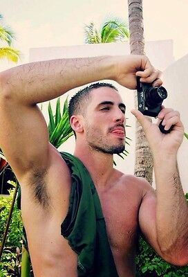$ CDN4.01 • Buy Shirtless Male Beefcake Muscular Dude Beard Hairy Arm Pit Arms PHOTO 4X6 C885
