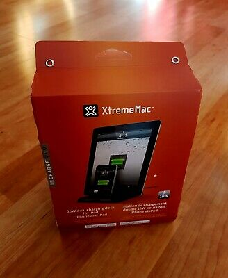 Xtrememac 10W Dual Charging Dock Station For IPHONE Ipod IPAD • 13.38£