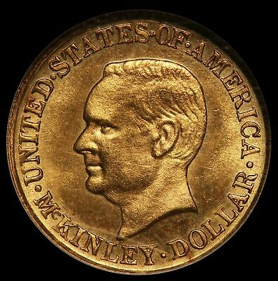 $497 • Buy 1916 U.S. William McKinley $1 One Dollar Commemorative Gold Coin - NGC MS 64