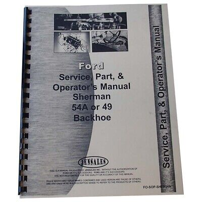 $ CDN43.75 • Buy FO-SOP-SHER54A Attachment Service Operator Tractor Part Manual For Ford 9N
