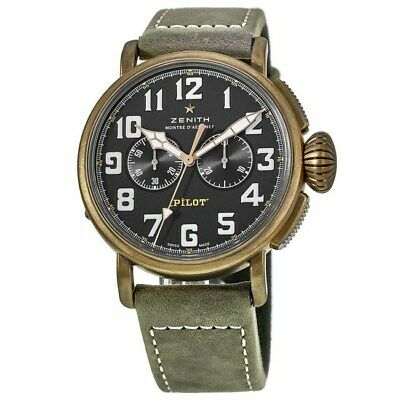 $5294 • Buy New Zenith Pilot Type 20 Chronograph Bronze Men's Watch 29.2430.4069/21.C800