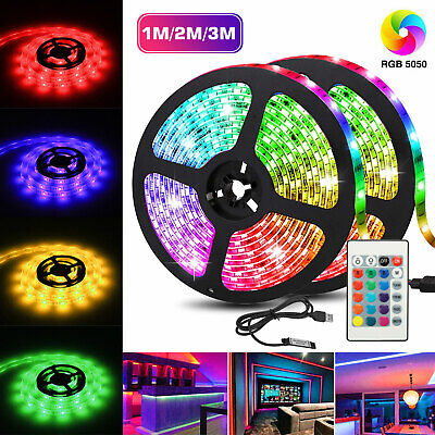 $11.27 • Buy USB LED Strip 5050 RGB Mood Light TV Backlight Multi Color With Remote Control