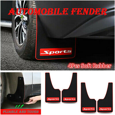 $ CDN92.43 • Buy 4Pcs Rubber Car Sports Mud Flaps Mudguards Front Rear Fender Splash Guard Parts