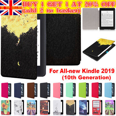 For Amazon All-New Kindle 10th Generation 2019 Leather Case Smart Cover Shell UK • 5.78£