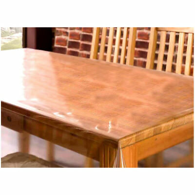£4.25 • Buy Clear Transparent PVC Tablecloth Table Protector Waterproof Covering Plastic