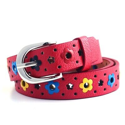 $7.29 • Buy  Candy Color Flower Belt Buckle PU Leather Kids Toddler Butterfly Waistband