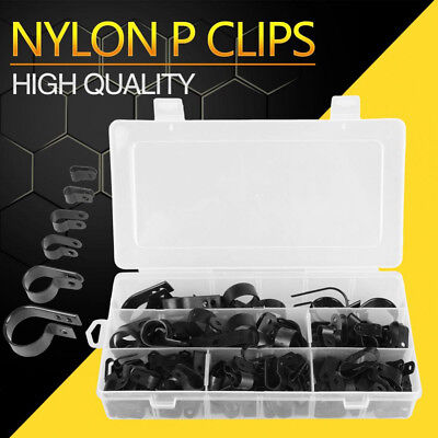 £10.69 • Buy 200Pcs P Clips Clamp Assortment Kit For Wire Cable Pipe Nylon Plastic