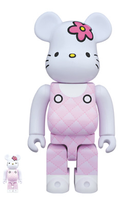 $248 • Buy BE@RBRICK Generation 90s Pink Quilt 100% & 400% Bearbrick Medicom Toy Art Doll