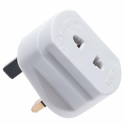 White UK 2 Pin To 3 Pin 1A Fuse Adaptor Plug For Shaver/Toothbrush By Xommerce • 3.99£