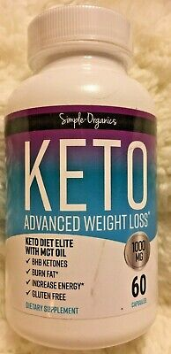 $13.50 • Buy Simple Organics Keto Advanced Weight Loss -MCT Oil