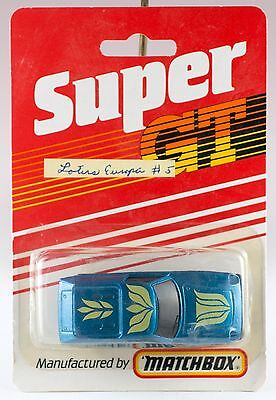 $ CDN14.35 • Buy Matchbox Super GT Lotus Europa Blue 1985 Made In England New On Card